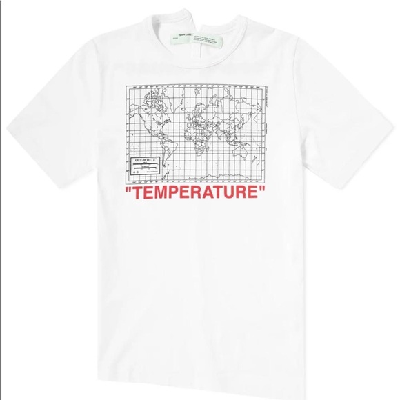 Off White Shirts Authentic Mens Off White Temperature Tshirt